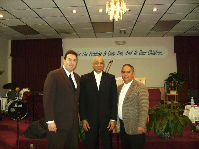 Host: Elder Duran, Chief Elder Charles Ford Walker and Bishop Hernandez At The Norwood Avenue Temple
